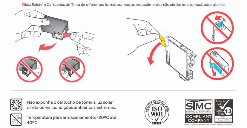 instruções de Uso para Cartucho de Tinta